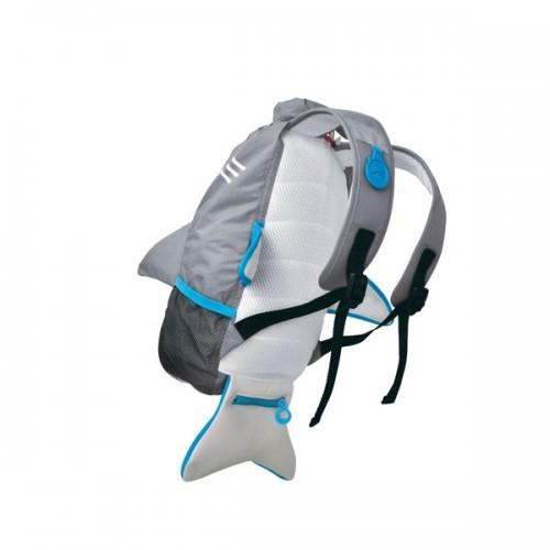 Nepremokavý ruksak - Žralok (šedý 10L)