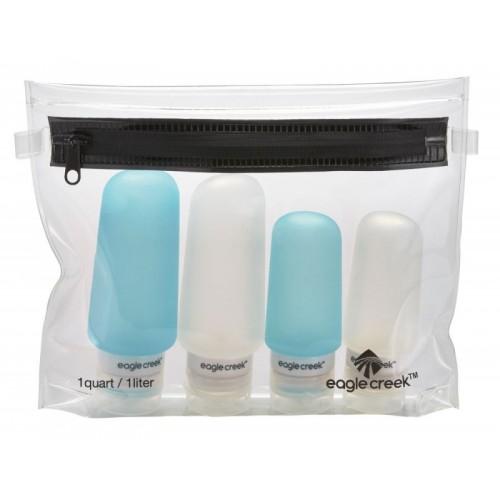 Sada silikónových fľaštičiek clear/aqua Set