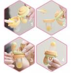 Podávač jedla pre deti - kidsme™ (ruž./žltý)