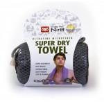 SUPER DRY TOWEL L ŠEDIVÝ