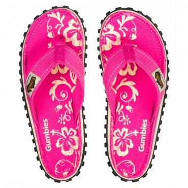 Žabky Gumbies - Pink Hibiscus, dámske