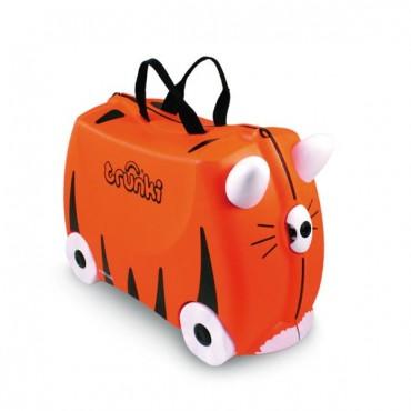 Detský cestovný kufrík a odrážadlo TRUNKI - Tiger