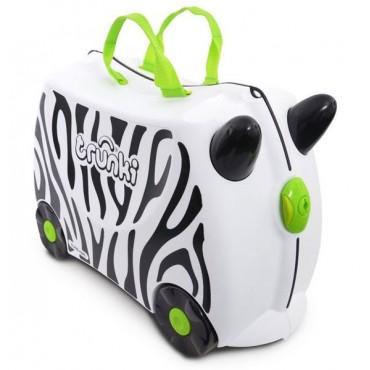 Detský cestovný kufrík a odrážadlo TRUNKI - Zebra
